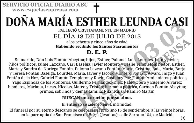 María Esther Leunda Casi